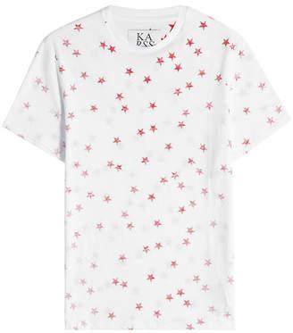 Zoe Karssen Printed Cotton T-Shirt with Linen