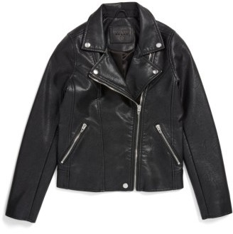 Girl's Blanknyc Faux Leather Moto Jacket $98 thestylecure.com