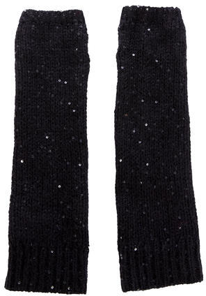 Tory Burch Tory Burch Sequin-Embellished Fingerless Gloves