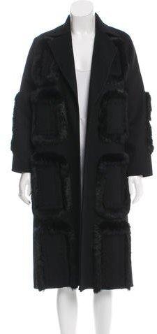 Bill BlassBill Blass Fur-Trimmed Long Coat