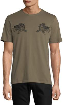 The Kooples Embroidered Cotton T-Shirt