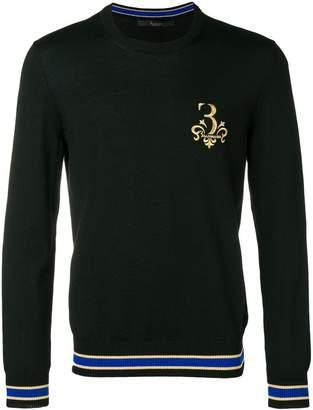 Billionaire Werner logo embroidered sweater