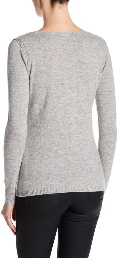 In Cashmere Cashmere Open-Stitch Pullover Sweater 14