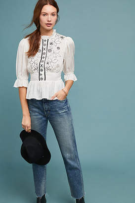 Meadow Rue Meila Embroidered Blouse