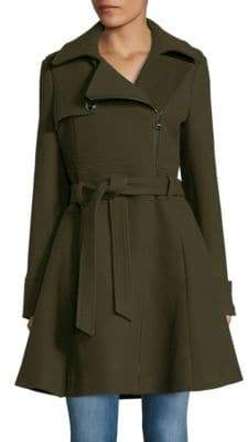 Catherine Malandrino Asymmetrical Fit-&-Flare Coat