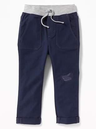 Old Navy Skinny Rib-Waist Twill Pants for Toddler Boys