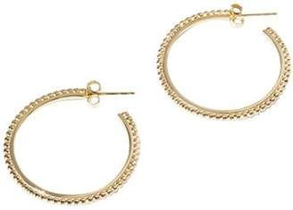 Shinola 14K Yellow Gold Coin Edge Large Hoop Earrings