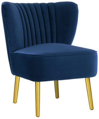 French Navy Slipper Chair
