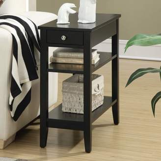 American Heritage Convenience Concepts 3-Tier End Table with Drawer, Multiple Colors