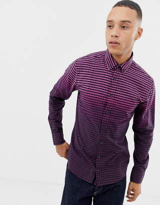 BOSS Mabsoot slim fit ombre oxford shirt in purple