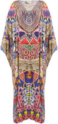 CAMILLA Dream Weavers-print silk maxi dress $615 thestylecure.com