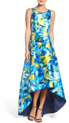 Women's Adrianna Papell Print Mikado High/low Gown $229 thestylecure.com