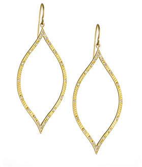 Jamie Wolf Engraved Diamond Leaf Earrings