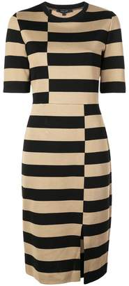 Derek Lam Offset Stripe Jersey Dress