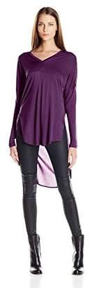 Buffalo David Bitton Women's Sheerly Shirly Hi-Low Shirt $8.88 thestylecure.com