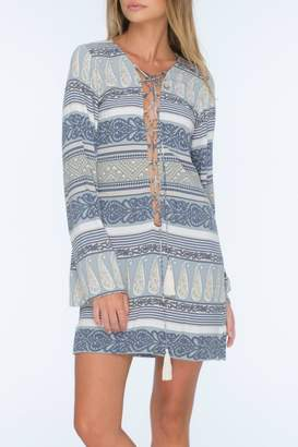 Indah Flame Lace Up Dress
