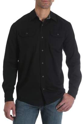 Wrangler Big Men's Long Sleeve Stretch Twill Shirt