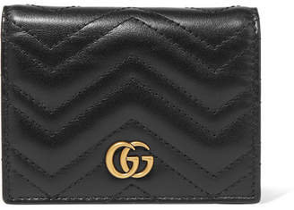 5a5e83dd5f2 Gucci Gg Marmont Quilted Leather Wallet - Black