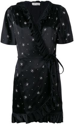 Attico - beaded stars wrap dress