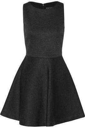 Alice + Olivia Alice+olivia Monah Mélange Stretch-Knit Mini Dress