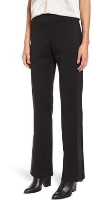 Eileen Fisher Slim Tuxedo Pants with Leather Stripe