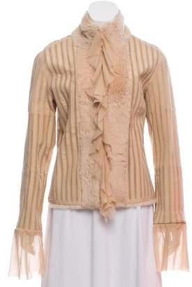 Sheri Bodell Fur Striped Jacket