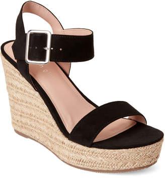 4f4dd337901 Madden-Girl Black Vail Platform Wedge Sandals