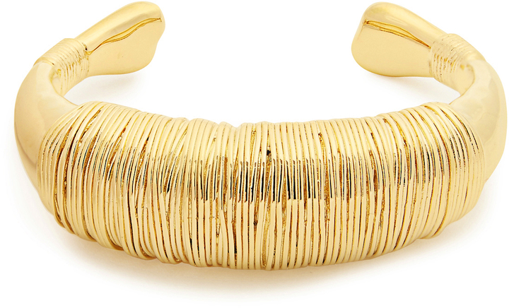 Aurelie BidermannAURÉLIE BIDERMANN Alhambra gold-plated chunky cuff