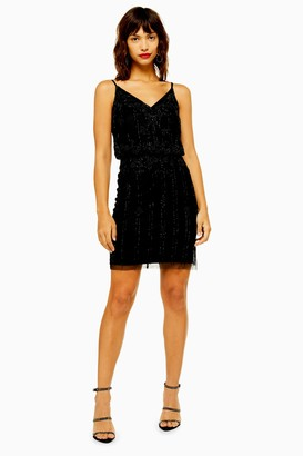 Womens **Embellished Dress By Lace & Beads - Black
