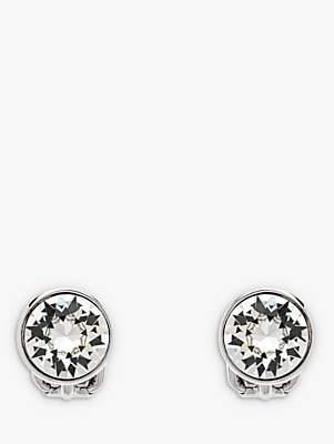 Swarovski Emma Holland Classic Crystal Clip-On Stud Earrings, Silver