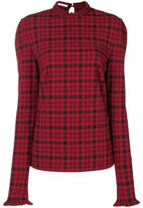 Philosophy di Lorenzo Serafini tartan blouse