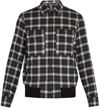 Neil Barrett Checked cotton shirt