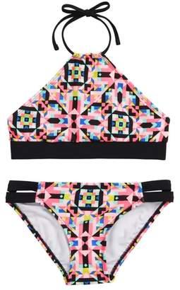 Gossip Girl Geo Print Two-Piece Swimsuit