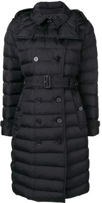 Burberry double-breasted belted puffer coat