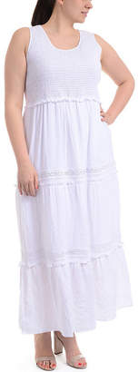 Asstd National Brand NY Collection Sleeveless Tiered Skirt Maxi Dress - Plus