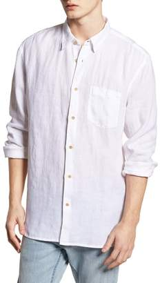 French Connection Relaxed Fit Solid Linen Sport Shirt