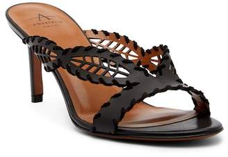 Aquatalia Natia Laser-Cut Whipstiched Sandal