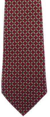 Hermes Ornate Print Silk Tie