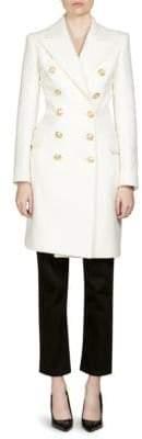 Balmain Wool Cashmere Trench Coat