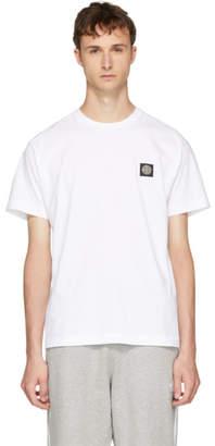 Stone Island White Logo Patch T-Shirt