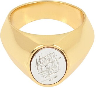 AllSaints Large Oval Signet Ring