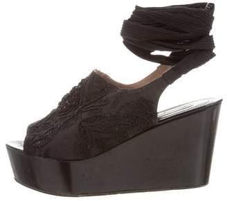 Dries Van Noten Embellished Flatform Sandals