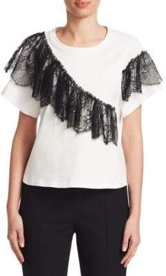 Mia Lace-Trimmed Tee