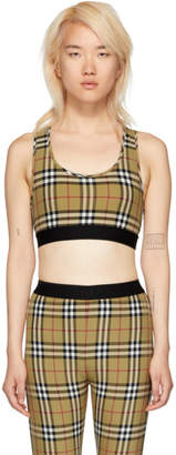 Burberry Yellow Vintage Check Dalby Cropped Tank Top