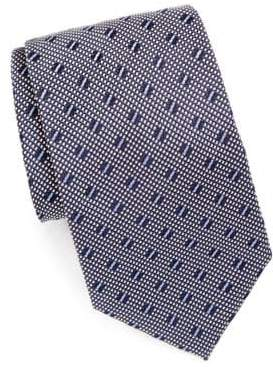 Brioni Silk Tie With Embroidered Design