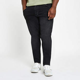River Island Big and Tall black Sid skinny jeans