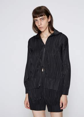 Pleats Please Issey Miyake Fluffy Pleat Hooded Jacket