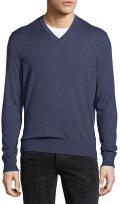 Ermenegildo Zegna Cashmere-Silk V-Neck Sweater