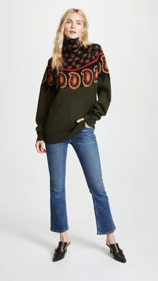 Toga Pulla Wool Jacquard High Neck Sweater