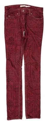 Etoile Isabel Marant Printed Mid-Rise Jeans